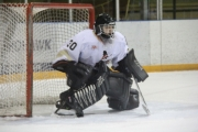 Jordan Gluck stopped all 24 shots to put Castlegar within a win of the 2013 KIJHJL title.  Bruce Fuhr photo